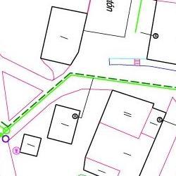 Plano. Obra de sustitución de redes en Almarail