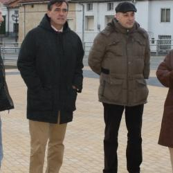 Visita del presidente de la Diputación provincial a Lubia